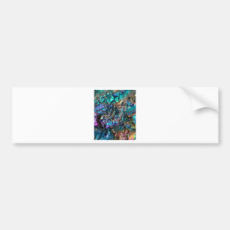 Turquoise Oil Slick Quartz Bumper Sticker