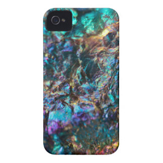 Turquoise Oil Slick Quartz iPhone 4 Cases
