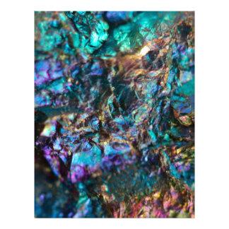 Turquoise Oil Slick Quartz Letterhead