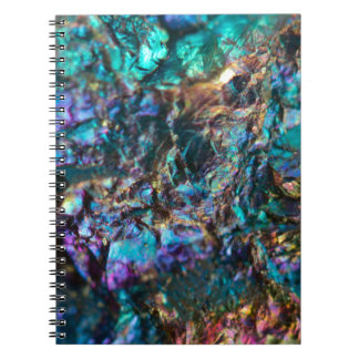 Turquoise Oil Slick Quartz Notebooks