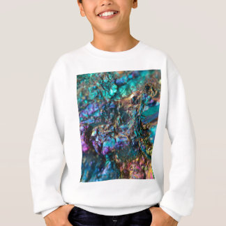 Turquoise Oil Slick Quartz Sweatshirt