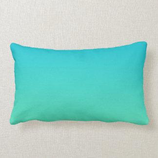 """Turquoise Ombre"" Lumbar Pillow"