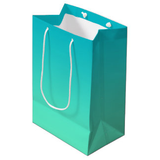 Turquoise Ombre Medium Gift Bag