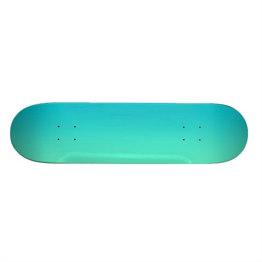 Turquoise Ombre Skate Board Decks