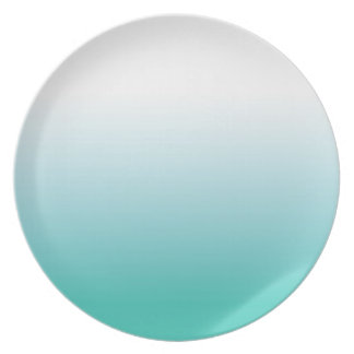 TURQUOISE OMBRE TEAL PLATE