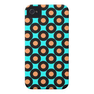 Turquoise Orange - Retro Polka Dot iPhone 4 Case