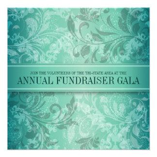Turquoise Paisley Swirl Event Custom Invitations