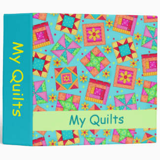 Turquoise Patchwork Quilt Personlizable Album Binder