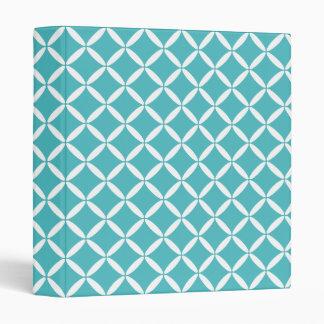 Turquoise Pattern Binder