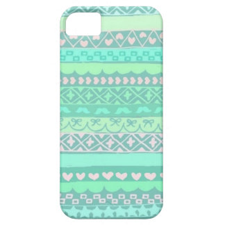 Turquoise pattern iPhone SE/5/5S Case