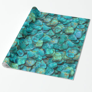 Turquoise Pattern Wrapping Paper