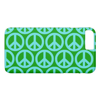 Turquoise Peace Signs iPhone 8 Plus/7 Plus Case