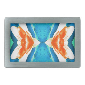 Turquoise Peach Abstract Butterfly Shape Belt Buckles