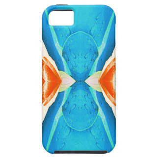Turquoise Peach Abstract Butterfly Shape iPhone 5 Cover
