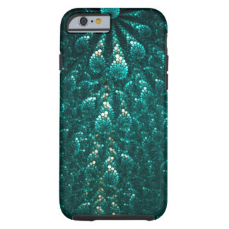 Turquoise pearl galaxy. Fractal composition Tough iPhone 6 Case