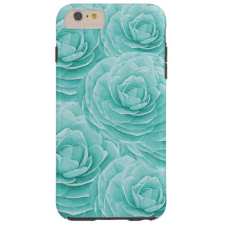 Turquoise Peony iPhone6 Plus Tough Case