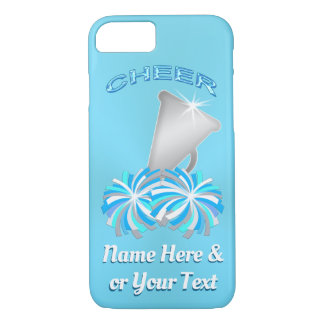 Turquoise Personalized Cheer iPhone Cases