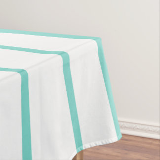 Turquoise Pink Stripes Tablecloth