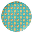 Turquoise pizza pattern plate
