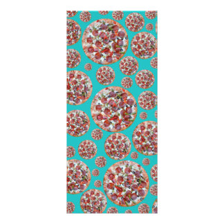 Turquoise pizza pie rack card template