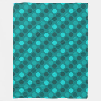 Turquoise Polka Dot Fleece Blanket