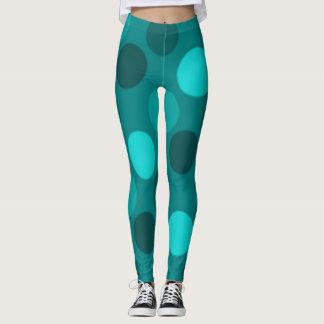 Turquoise Polka Dot Leggings