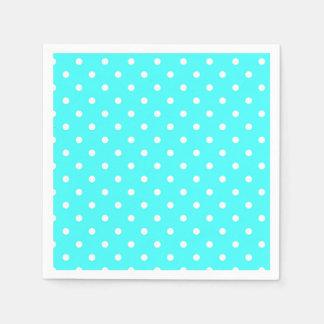 Turquoise polka dot modern glamour paper napkins