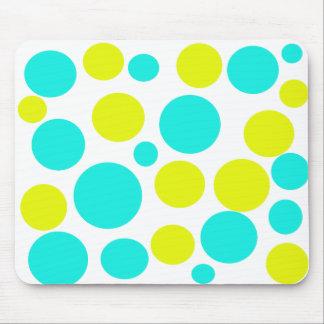 Turquoise Polka Dot Mouse Pad