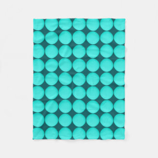 Turquoise Polka Dot Pattern Fleece Blanket