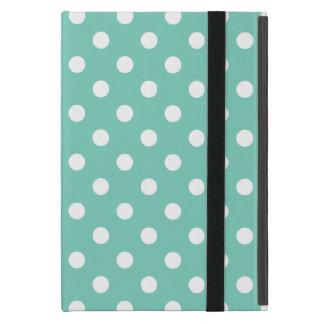 Turquoise Polka Dot Pattern Cover For iPad Mini