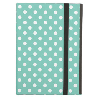 Turquoise Polka Dot Pattern iPad Air Cases