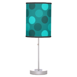 Turquoise Polka Dot Table Lamp