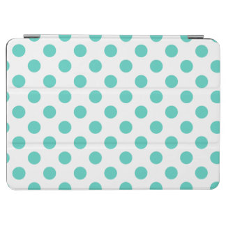 Turquoise polka dots iPad air cover