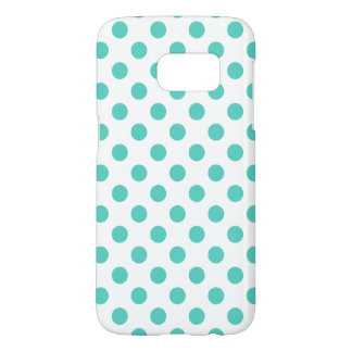 Turquoise polka dots samsung galaxy s7 case