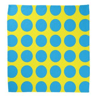 Turquoise Polka Dots Yellow Head Kerchief