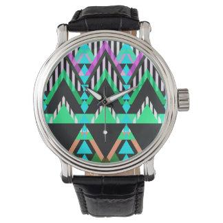 Turquoise Pop Aztec Wristwatch
