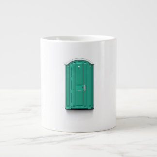 Turquoise Portable Toilet Jumbo Mug