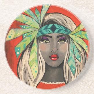 Turquoise Princess Coaster