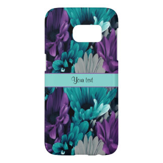 Turquoise & Purple Daisies Samsung Galaxy S7 Case