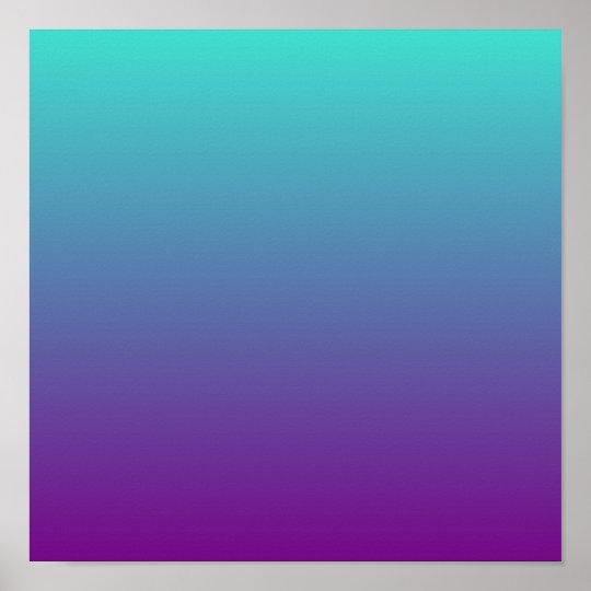 info for bde78 e8590 Turquoise Purple Ombre Poster   Zazzle.ca
