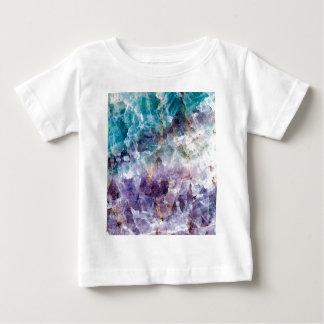 Turquoise & Purple Quartz Crystal Baby T-Shirt