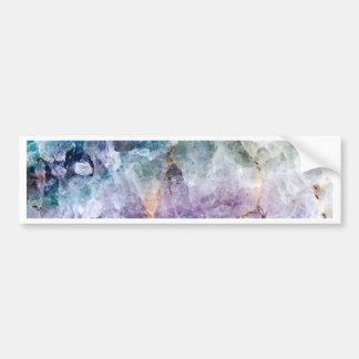 Turquoise & Purple Quartz Crystal Bumper Sticker
