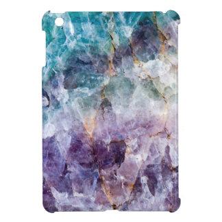 Turquoise & Purple Quartz Crystal iPad Mini Case