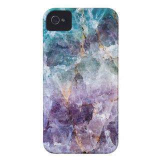 Turquoise & Purple Quartz Crystal iPhone 4 Cases