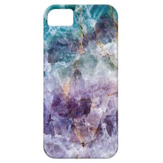 Turquoise & Purple Quartz Crystal iPhone 5 Cover