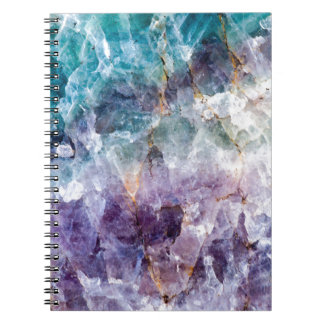 Turquoise & Purple Quartz Crystal Notebook