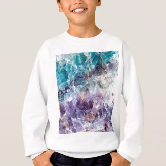 Turquoise & Purple Quartz Crystal Sweatshirt