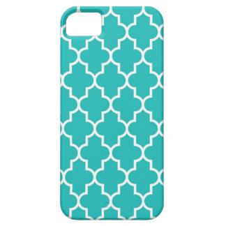 Turquoise Quatrefoil iPhone 5 Cover