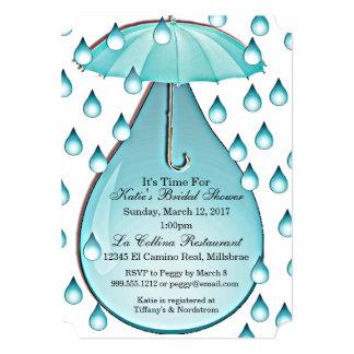 Turquoise Raindrops Bridal Shower Invitation