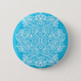 Turquoise, Raven of mirrors, dreams, bohemian 2 Inch Round Button